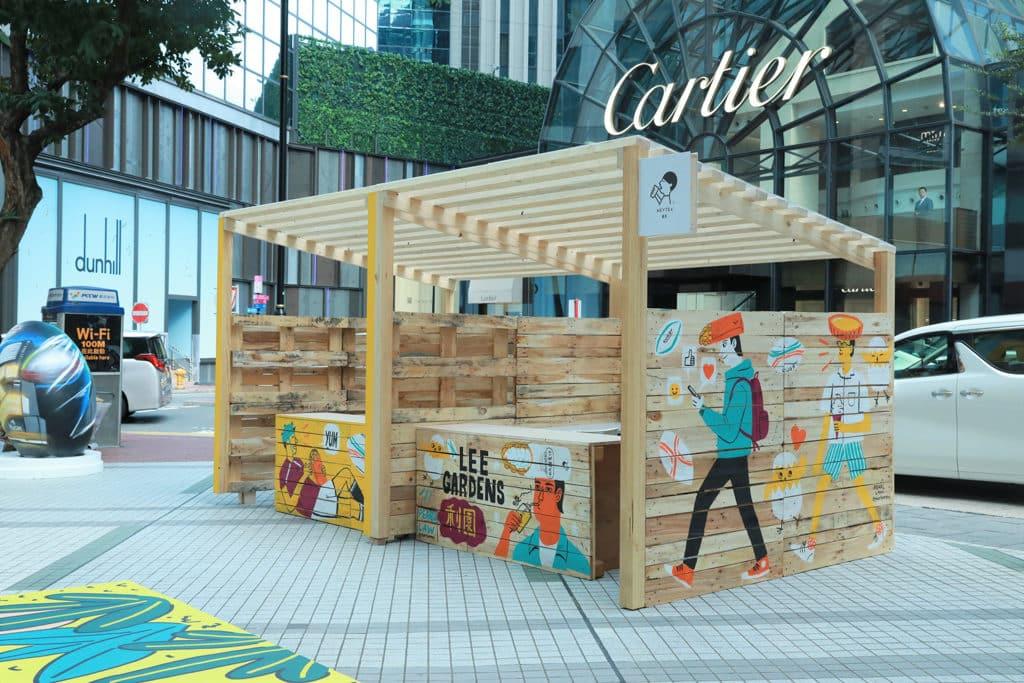 國泰航空/滙豐香港國際七人欖球賽FanWalk 戶外美食區為一眾參加者預備了不同的美食。