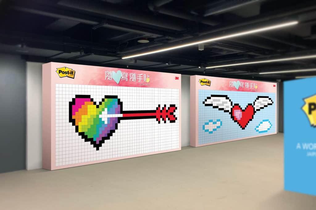 南豐紗廠展覽:Post-it® Notes隨心寫、隨手貼互動展覽 現場設有多個不同風格的影相位。