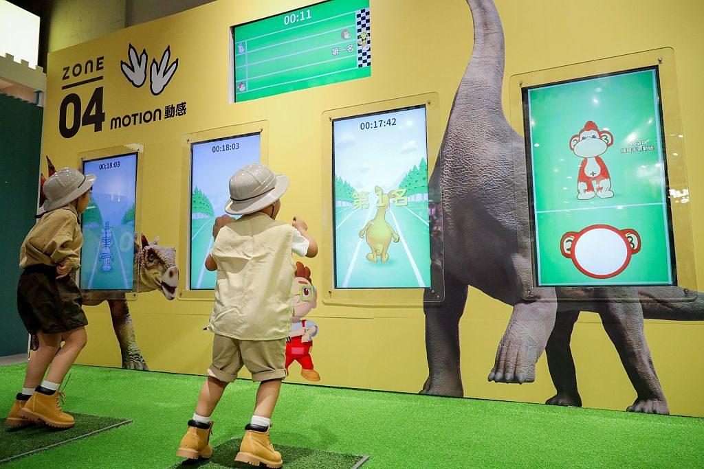 愉景新城恐龍體驗館-RUN動感-奔跑吧!恐龍!刺激體感互動遊戲