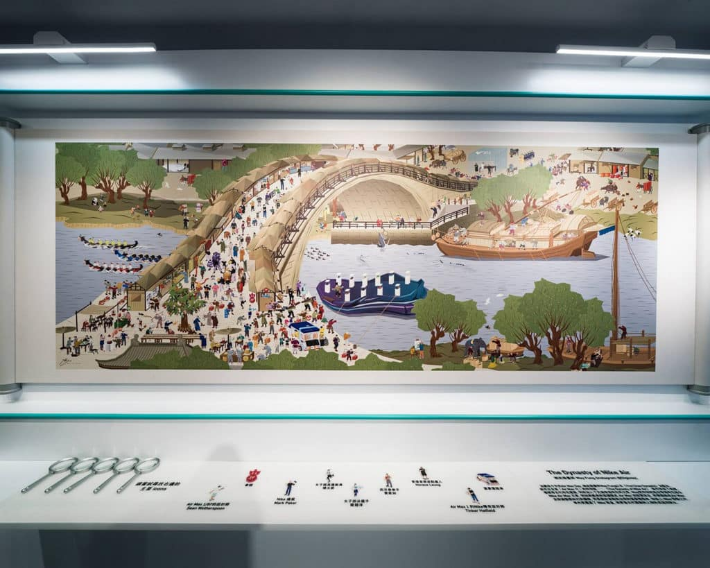 THE FOREST商場:Nike Air Max Day裝置及展覽 荷蘭藉港人藝術家Way Fung所創作的《The Dynasty of Nike Air》數碼藝術。