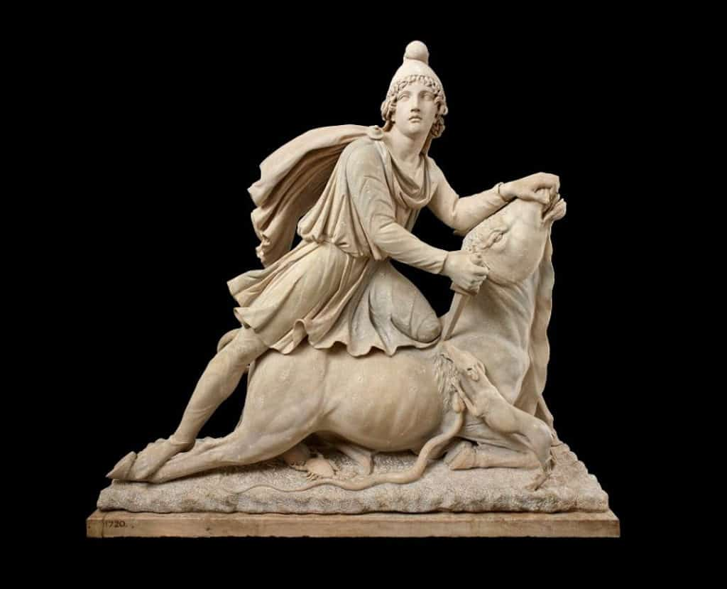 沙田文化博物館:百物看世界─大英博物館藏品展 密特拉神像 公元100 – 200年 大理石 意大利羅馬