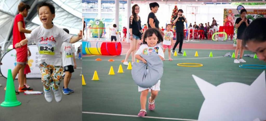 中環海濱2019:運動Jam–中西區夏祭 在「共砌公園」與小朋友齊玩多種互動遊戲。