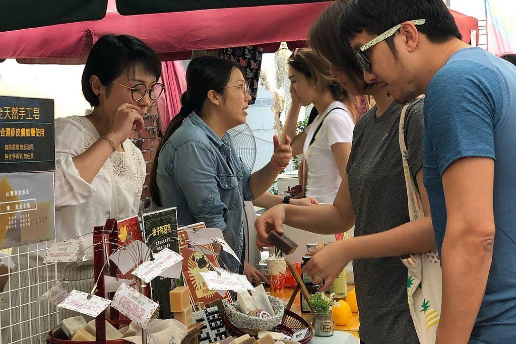 長洲市集也有發售天然手工皂的市集攤位。