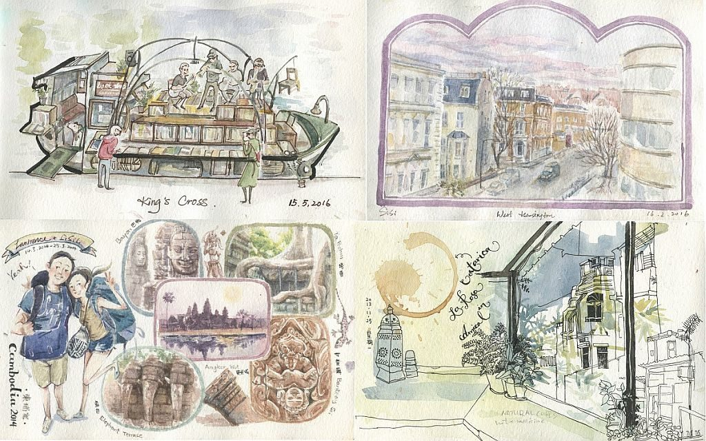 D2 Place「慢活•漫遊異國×插畫師Sisi Li」市集-香港年青插畫師 Sisi Li 將展出旅行時所創作的插畫,讓大家透過筆觸遊世界。