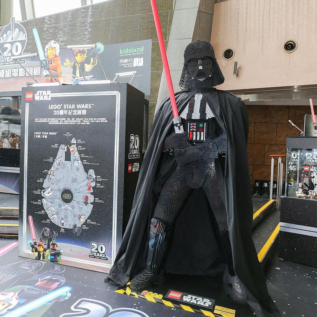 朗豪坊:LEGO X Starwars 20週年紀念展覽 1:1 原大黑武士