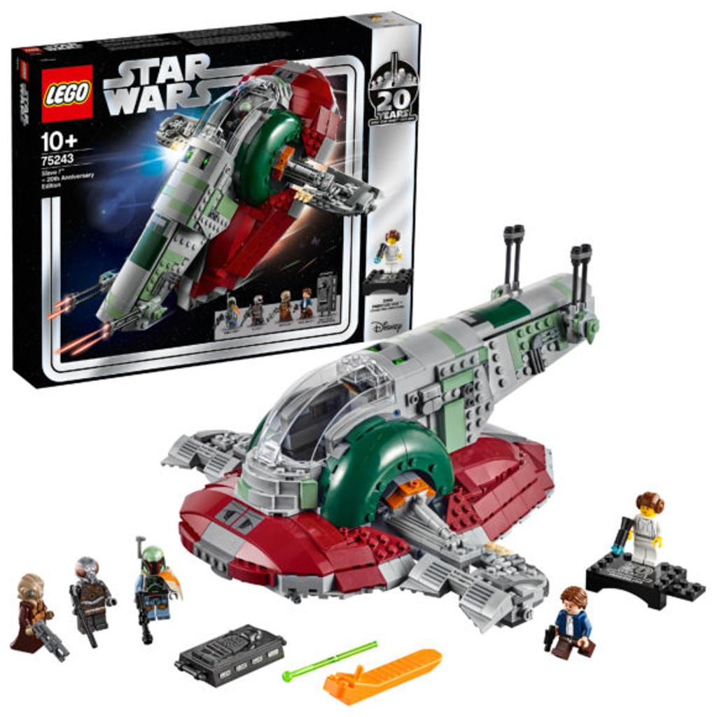 朗豪坊:LEGO X Starwars 20週年紀念展覽 75243 Slave I 20th Anniversary Edition 經典賞金獵人 Boba Fett 與他最著名的飛船「奴隸一號」。 紀念人偶款:Princess Leia
