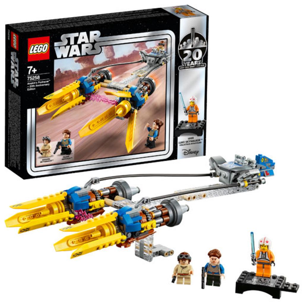 朗豪坊:LEGO X Starwars 20週年紀念展覽 75258 Anakin's Podracer 20 Anniversary Edition 《星球大戰首部曲:威脅潛伏》裡面年幼的 Anakin 在峽谷中進行競賽的賽艇。 紀念人偶款:Luke Skywalker