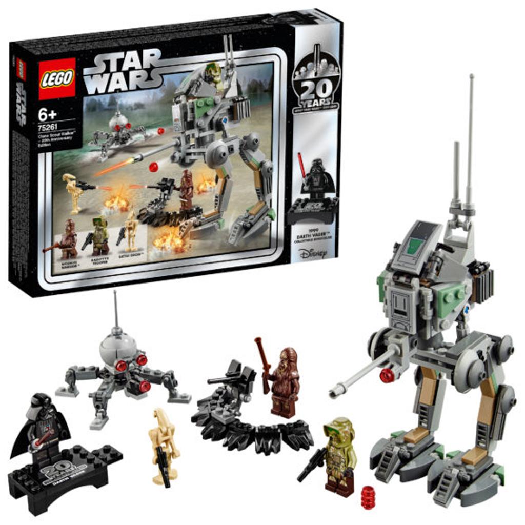 朗豪坊:LEGO X Starwars 20週年紀念展覽 75261 Clone Scout Walker 20th Anniversary Edition 《星球大戰前傳:黑帝君臨》複製人與戰友一同對抗戰鬥機械人的場景。 紀念人偶款:Darth Vader