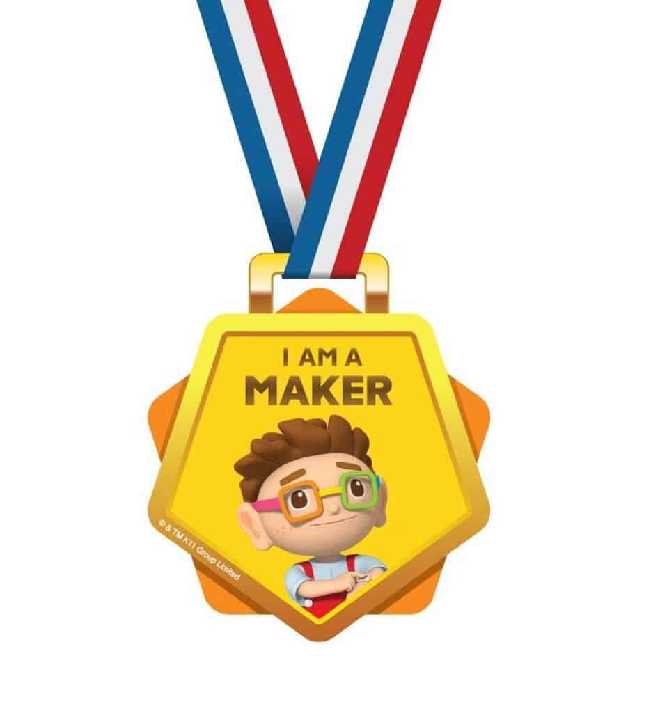 "D‧PARK愉景新城:""Maker Park"" 兒童創造館 完成活動可換領獎牌與禮品。"