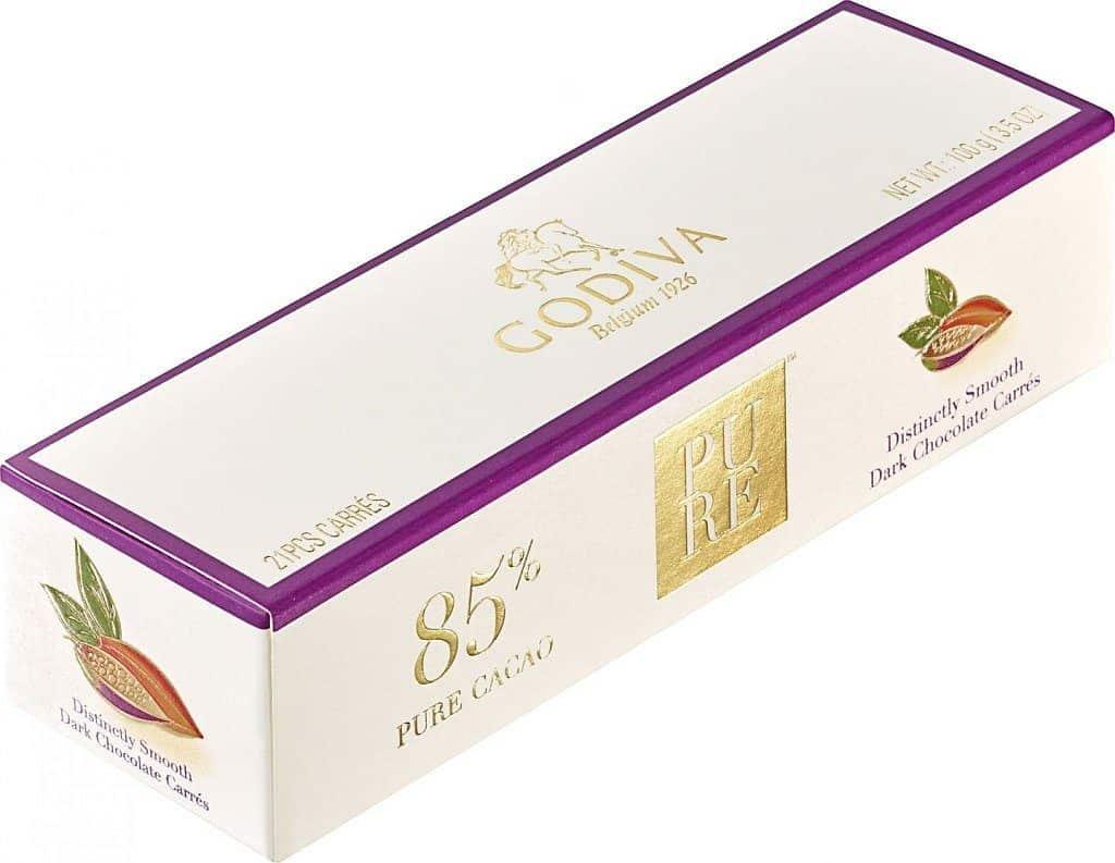 GODIVA 濃醇 85% 黑巧克力禮盒 21 片裝