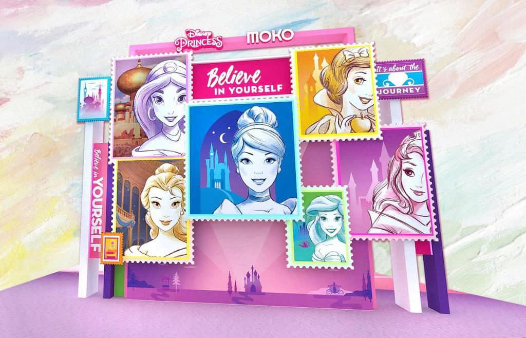 MOKO:迪士尼主題活動「Disney Princess – Believe in Yourself」場內幻光屏將展出 6 位迪士尼公主的全新造型。