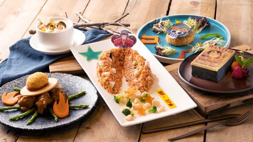 香港海洋公園內的嵐灣茶座設有期間限定的「海賊王航海歷險仲夏大餐」。