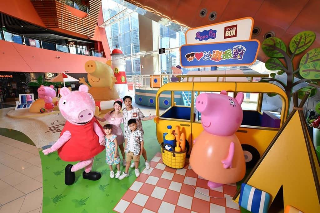 MegaBox:Peppa Pig 開心沙灘派對 MegaBox 今個暑假舉辦「Peppa Pig開心沙灘派對大型裝置」。