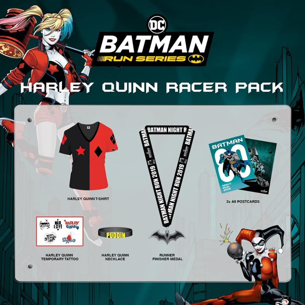 西九文化區:蝙蝠俠80週年紀念夜跑 小丑女跑手包