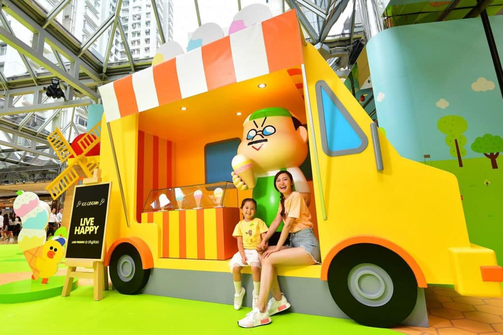 太古城中心:LINE FRIENDS結伴樂遊遊 BOSS 在涼浸浸的雪糕車旁送上消暑驚喜