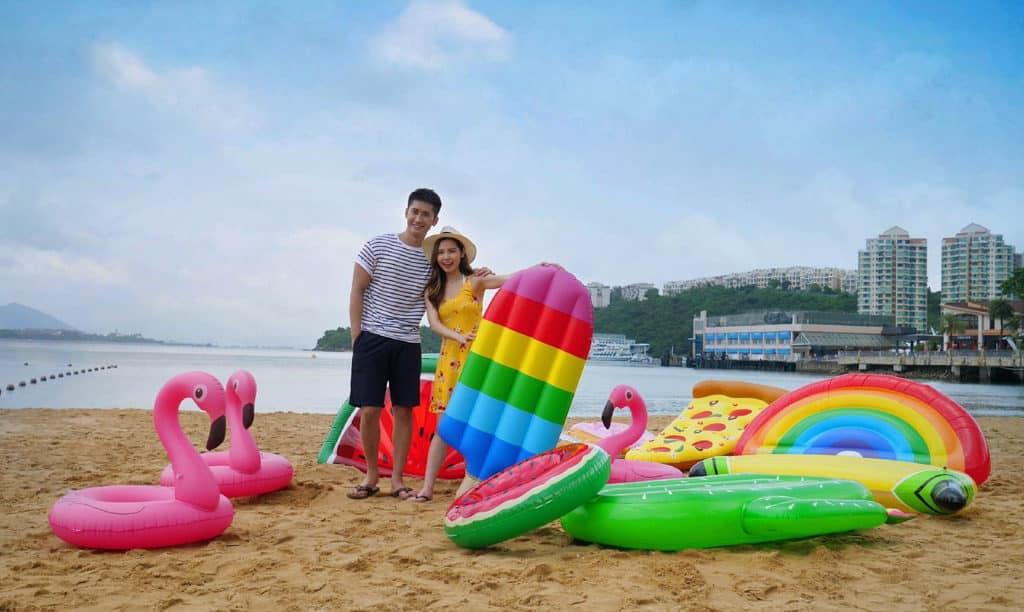 愉景灣夏日滿FUN 憑即日餐飲收據可借用造型趣緻的「滿FUN」水泡。