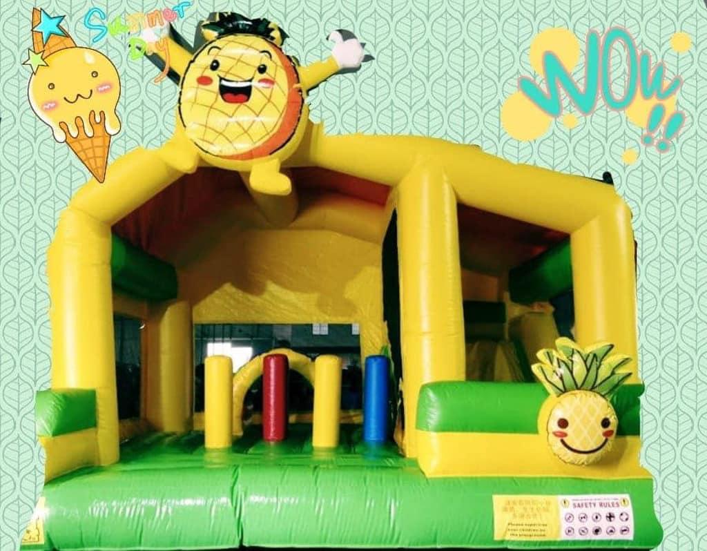 元朗錦田:菠蘿園夏水禮 菠蘿充氣彈床