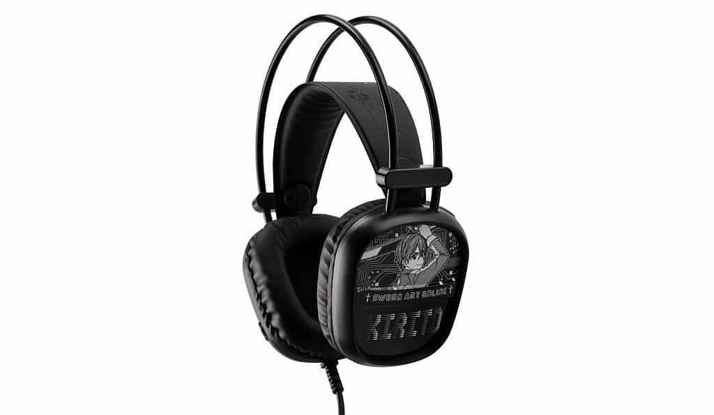 香港動漫電玩節 2019-《刀劍神域》特級裝備「耳罩式電競耳機」,可調式頭帶與微型麥克風再加上環迴聲道,方便大家與網友溝通。
