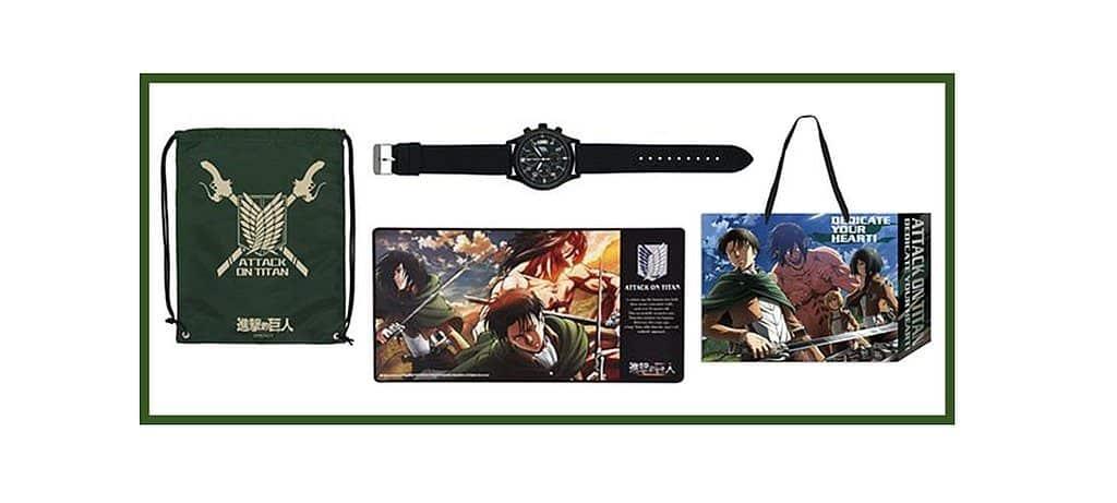 香港動漫電玩節 2019-《進擊的巨人》的「調查兵團」LOGO 配上酷帥金屬錶盤的「三眼功能造型錶」,別具型格!