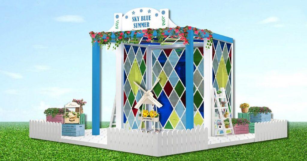 新都會廣場盛夏之藍打卡位03:空中藍天花圃