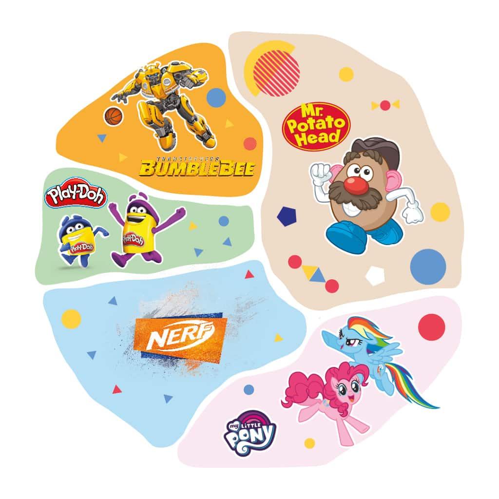 九展:薯蛋頭老友運動競技場 活動分為 5 大主題運動競技玩樂區。