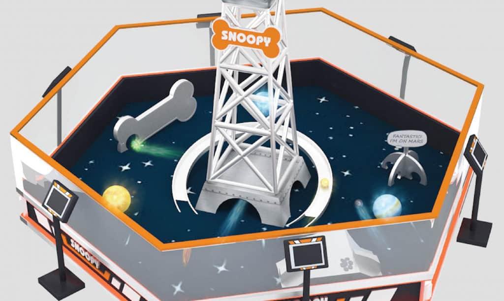 又一城:史諾比·星空漫遊展覽 大型星球互動遊戲裝置