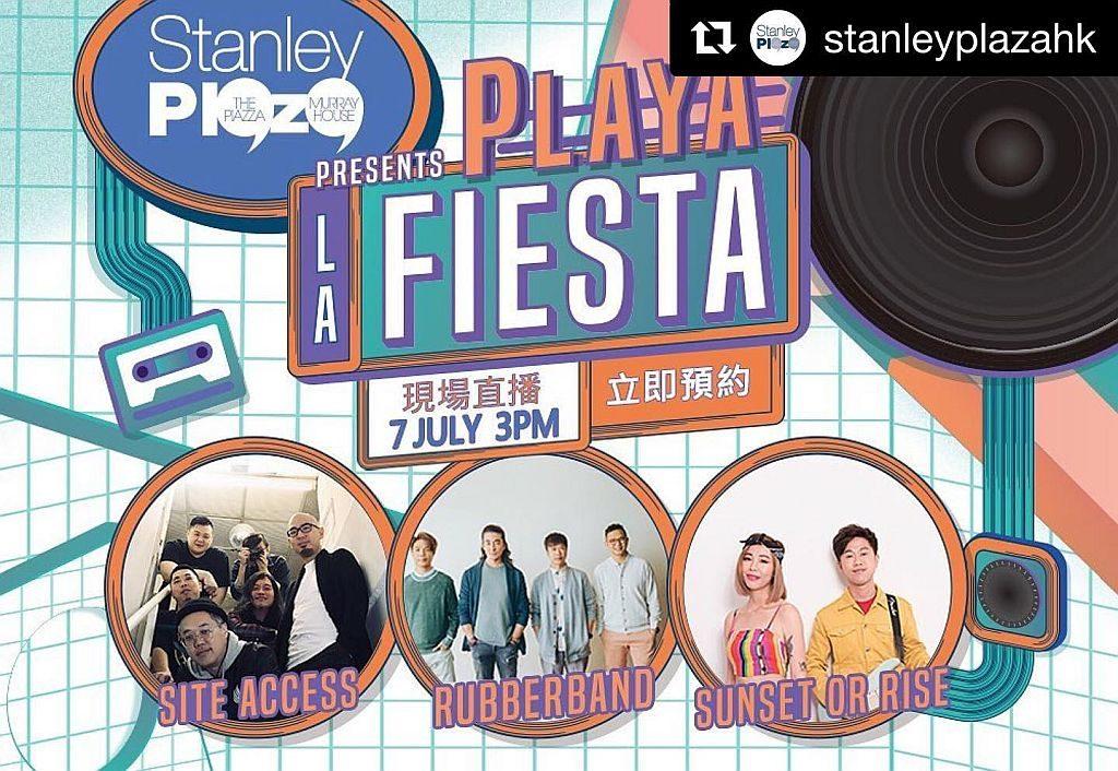 Playa La Fiesta 海邊音樂派對的頭炮活動請來 RubberBand、Site Access、Sunset Or Rise 擔任表嘉賓。