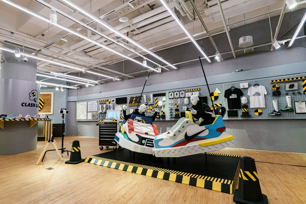 """THE FOREST商場:""""Clash Lab""""Nike期間限定創意藝術空間 THE FOREST 商場設置了全新創意藝術空間《Clash Lab》。"""