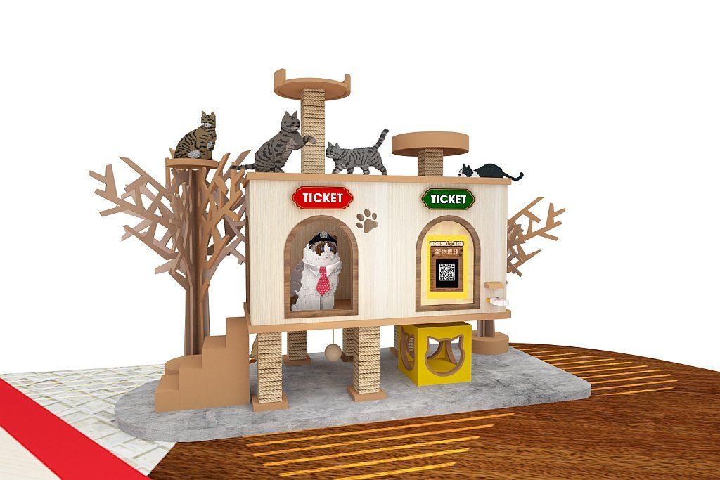 YOHO MALL × JEKCA 寵物專綫-寵物專線售票處與貓貓站長休息室