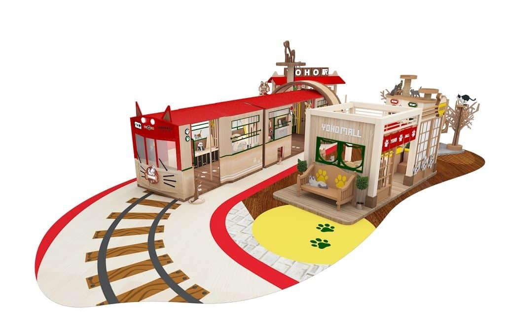 YOHO MALL × JEKCA 寵物專綫-逾 7 米長列車乘載不同「寵物」供打卡。