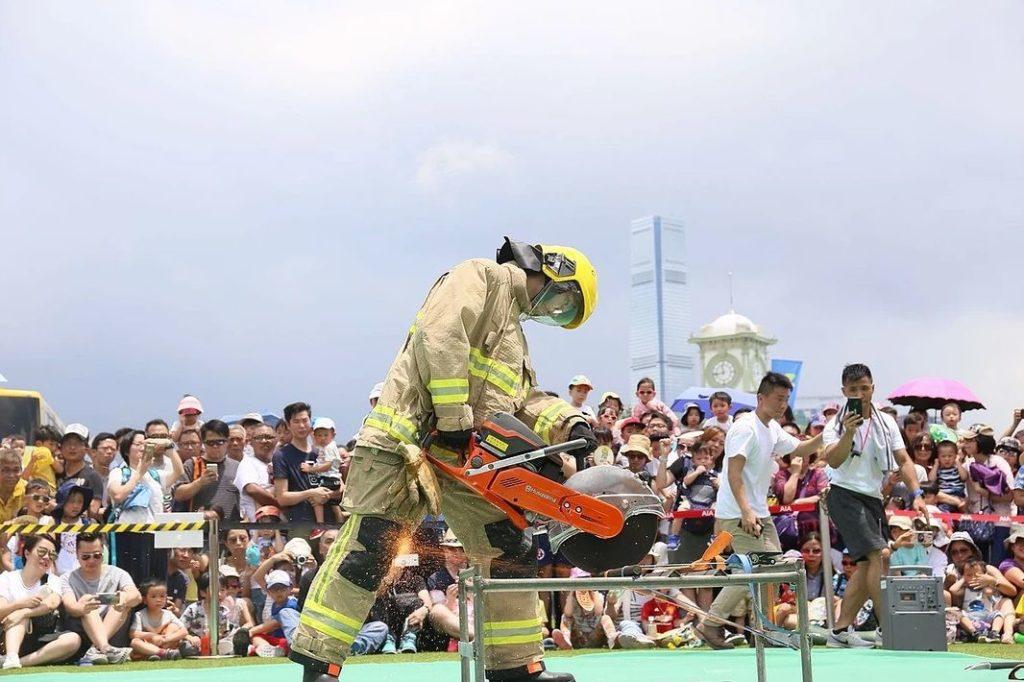 中環夏誌2019:消防處三「識」嘉年華 嘉年華內有各類有消防及救護服務示範。