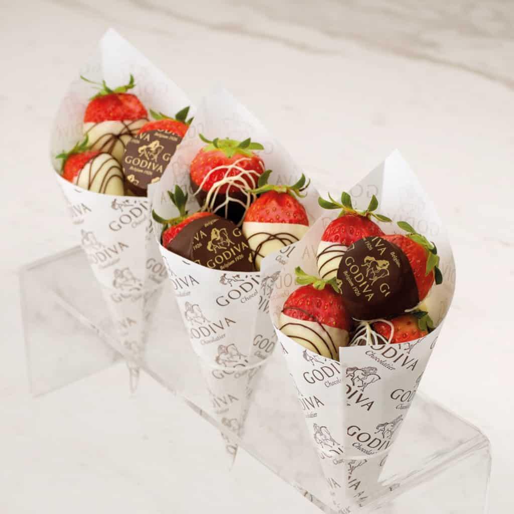GODIVA限時4天七折優惠 新店提供鮮製巧克力甜點例如巧克力水果。