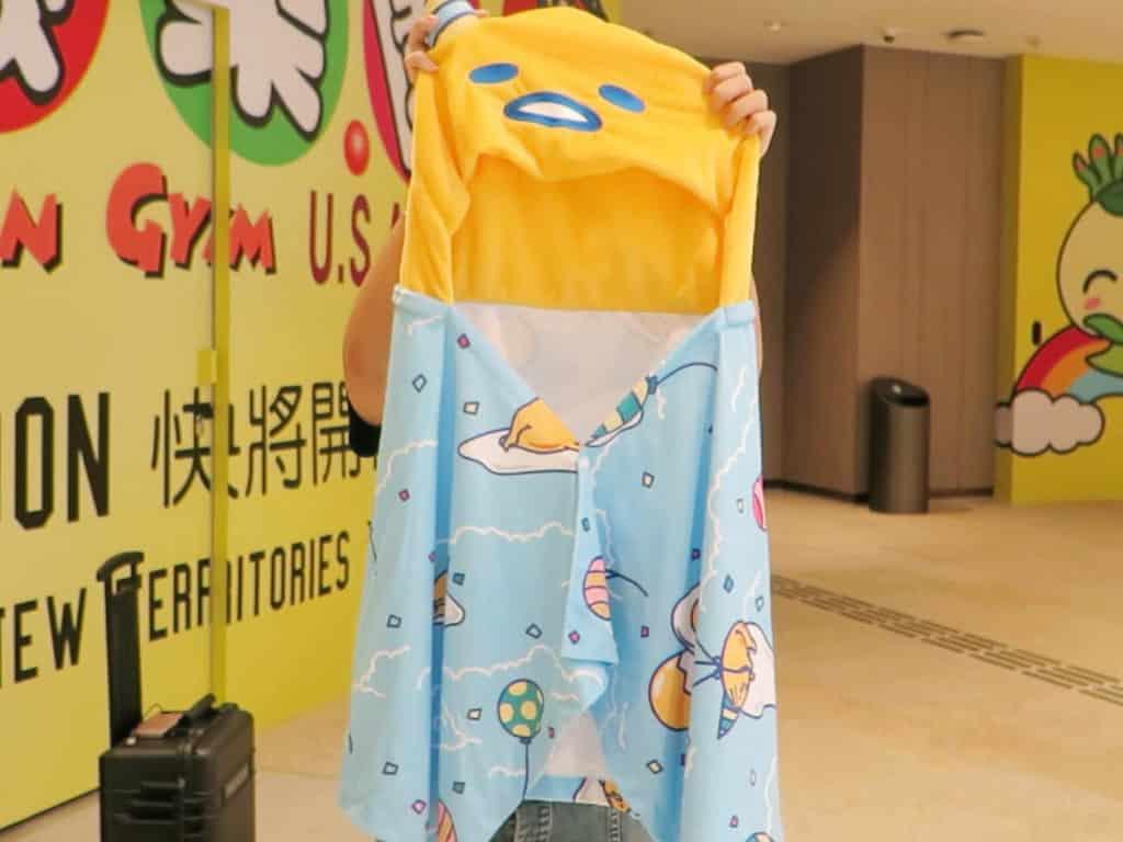 將軍澳翩滙坊商場:Gudetama盛大Chill-lebration GUDETAMA盛大CHILL-LEBRATION連帽斗篷