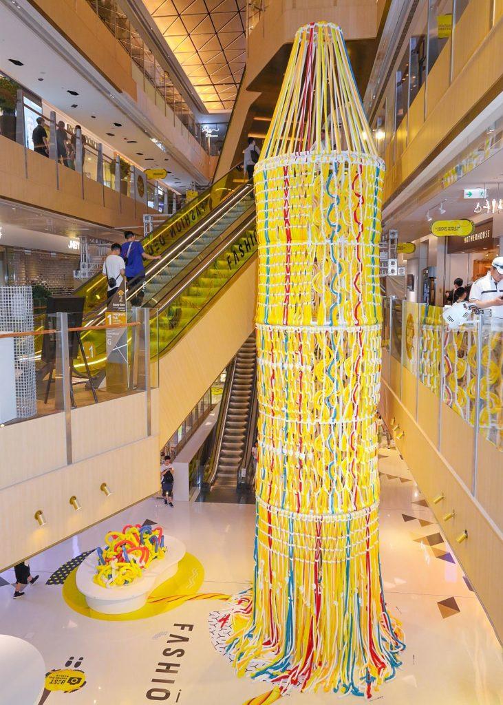 K11 時裝月《FASHION DECODE》:巨型手工編織繩網塔