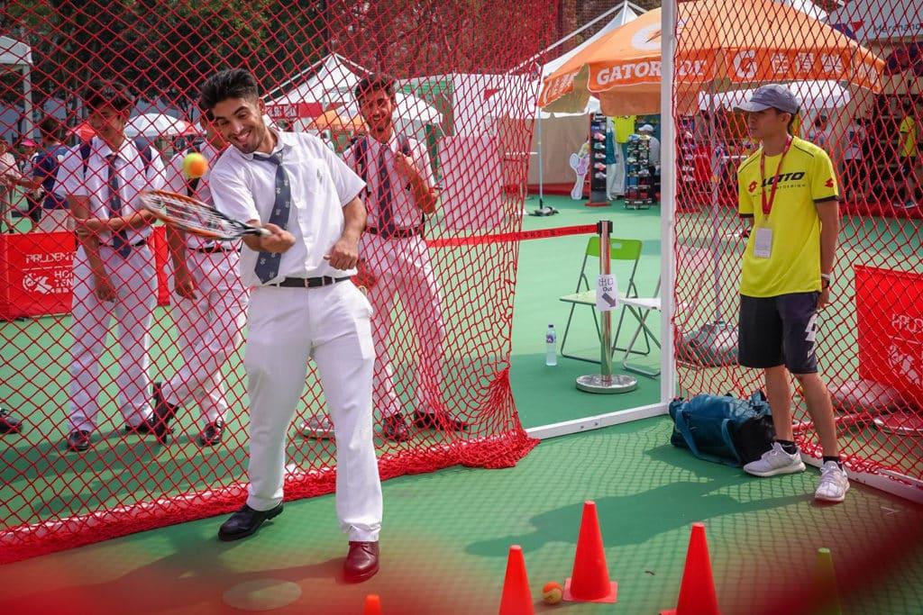 保誠香港網球公開賽2019 場內會有網球體驗活動。