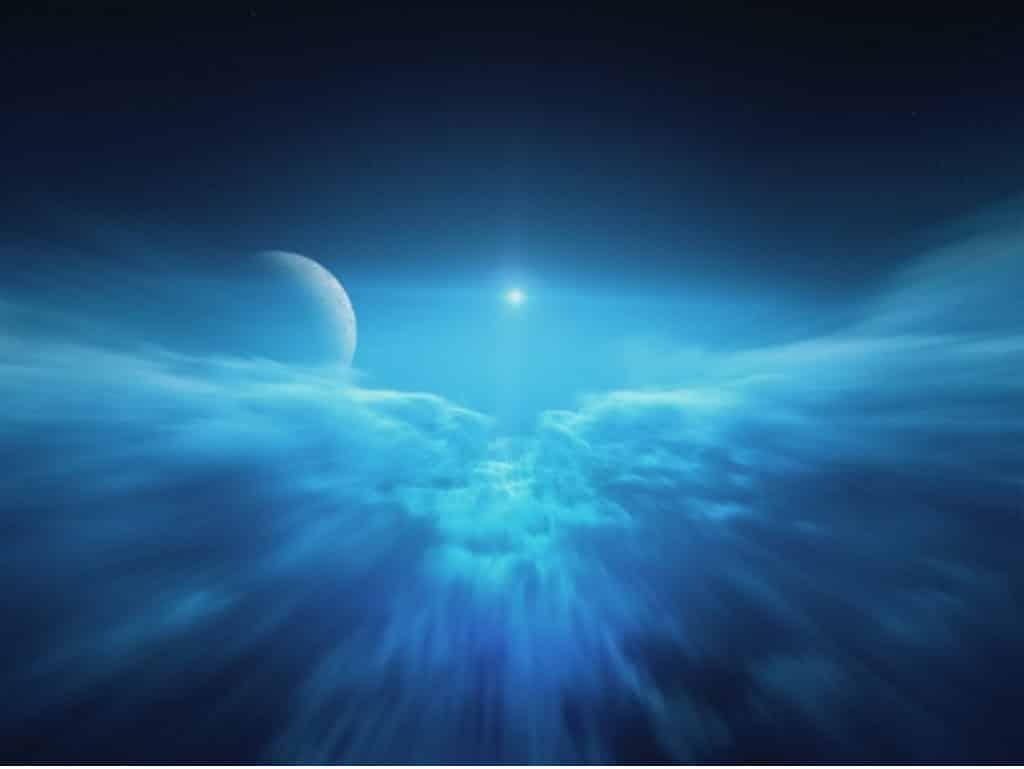 太空館:立體球幕電影《飛越行星3D》航行者2號飛越海王星時所見的景觀
