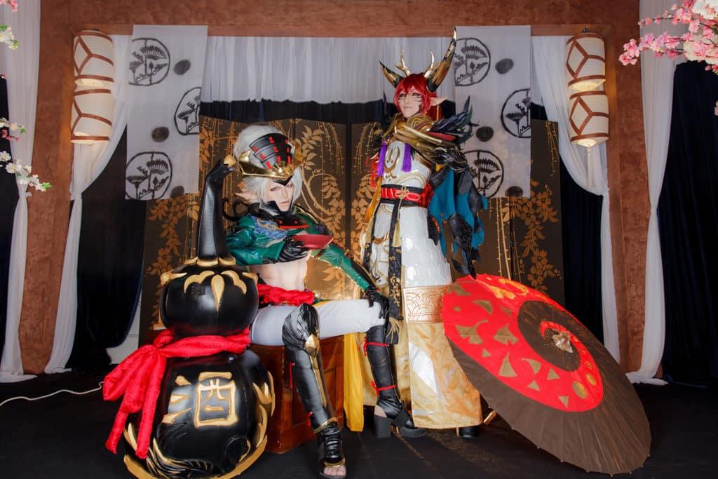 黃埔新天地:黃埔cosplay夏の對決 本地資深Cosplayer—阿幽及小藏擔任比賽評審。