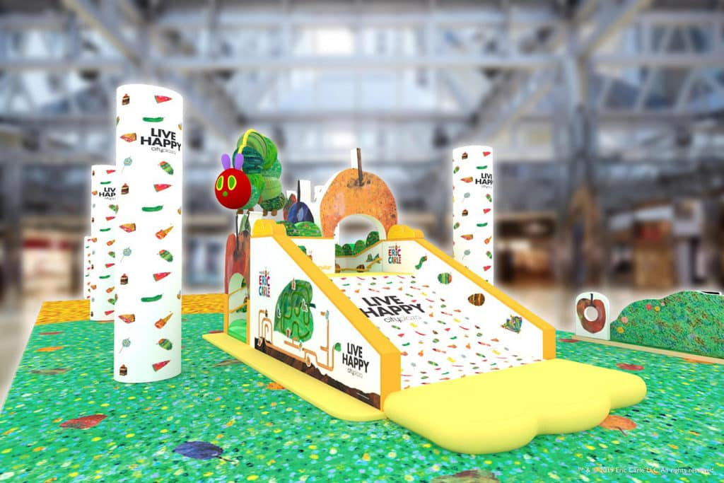 太古城中心:「world of Eric Carle童心童閱」互動玩樂區 太古城中心打造《world of Eric Carle童心童閱》,重現三部經典繪本的故事場景。