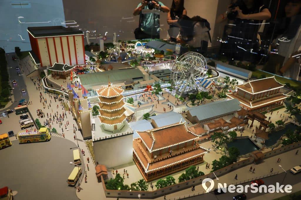 D2 Place:「我們的荔園」展覽及嘉年華 荔園模型亮燈後更具特色。