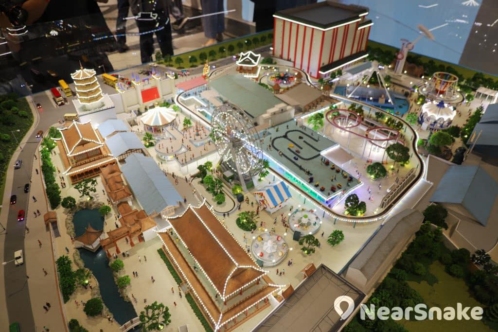D2 Place:「我們的荔園」展覽及嘉年華 亮燈後的荔園微縮模型更顯精美。