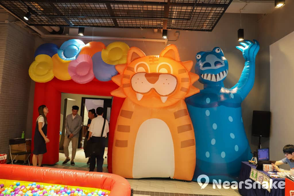 D2 Place:「我們的荔園」展覽及嘉年華 門口旁邊亦有個大型吹氣公仔影相位