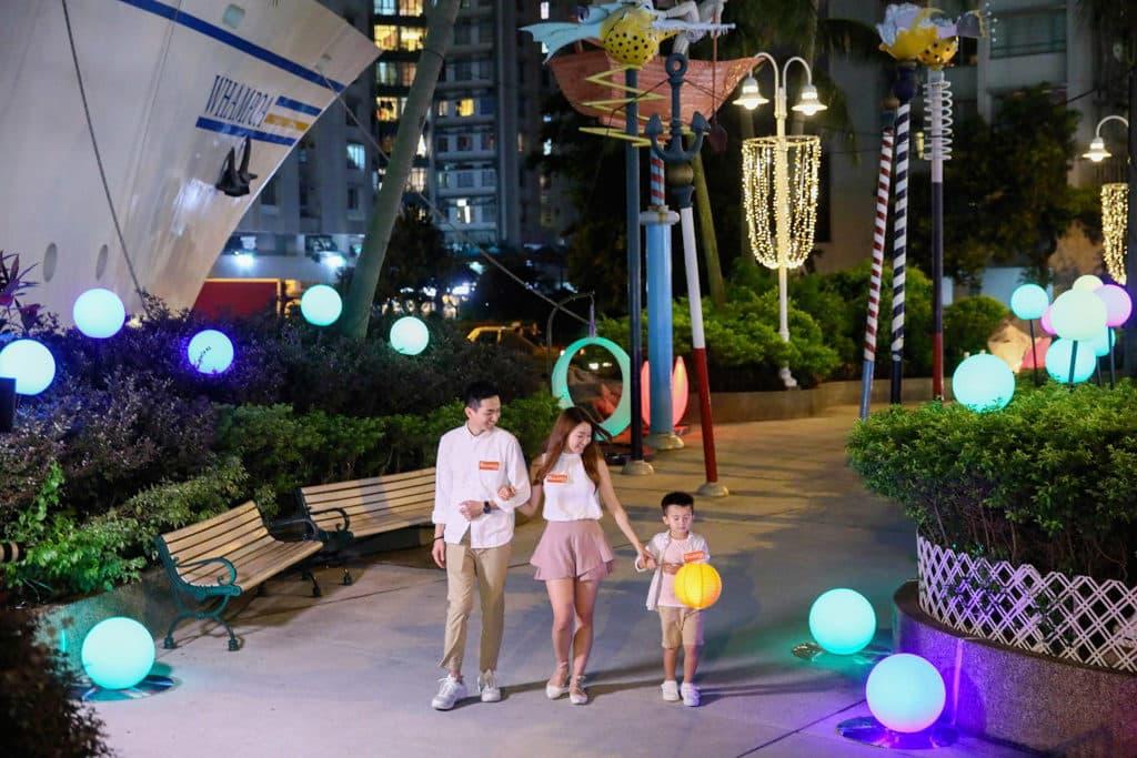 黃埔天地:Lumieres Whampoa光影舞動黃埔夜 星光綻放圓步道