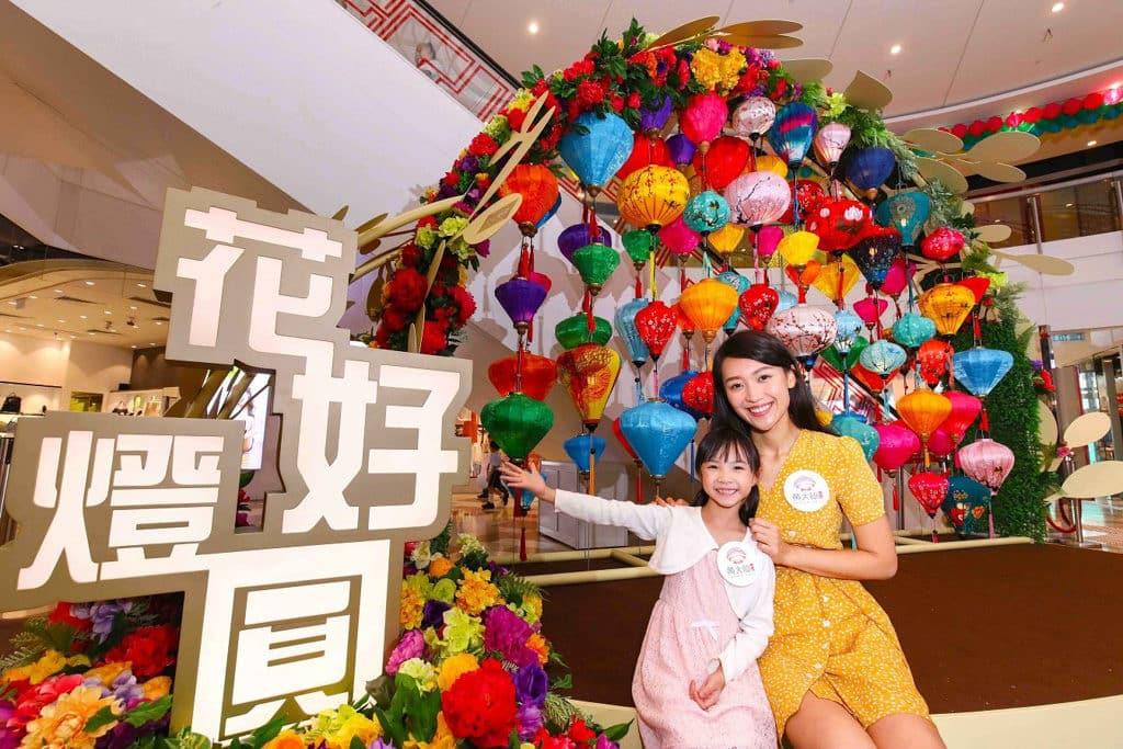 黃大仙中心:「花好燈圓」燈籠裝置 1 樓越南燈籠裝置