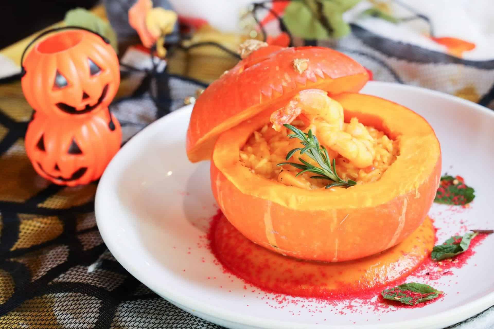 黃金海岸商場「南瓜節」 地中海餐廳把南瓜入饌,呈獻「南瓜節美食」。