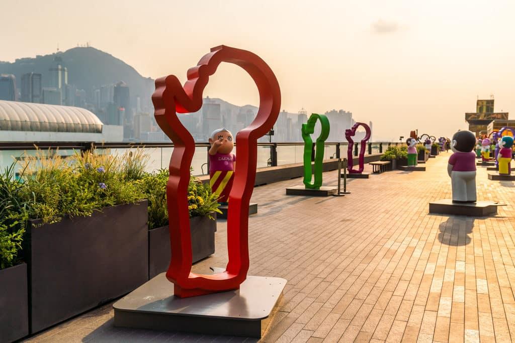中港城:「天天向上」藝術展 「天天向上」系列作品曾於 20 多個亞洲及歐美城市展出。