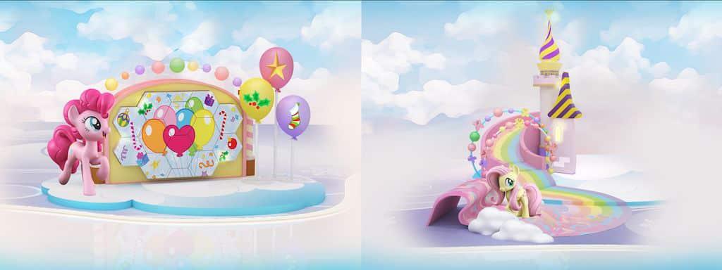 皇室堡:My Little Pony聖誕夢幻童樂園 皇室堡打造全港首個My Little Pony主題商場佈置。