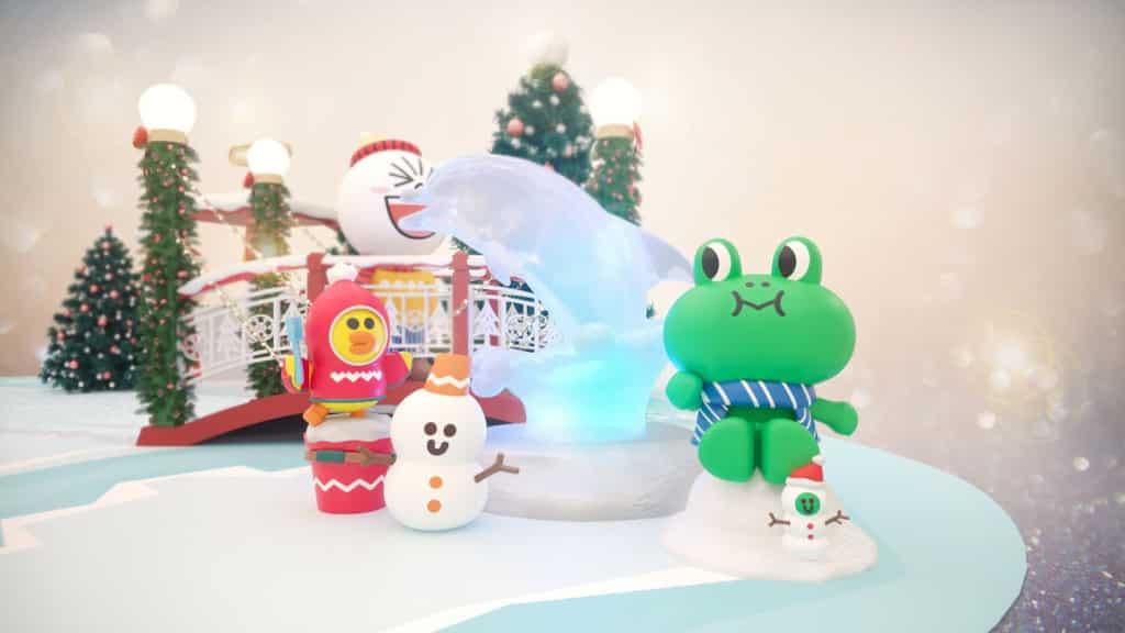東薈城名店倉:LINE FRIENDS冬日野外遊蹤 海豚冰雕