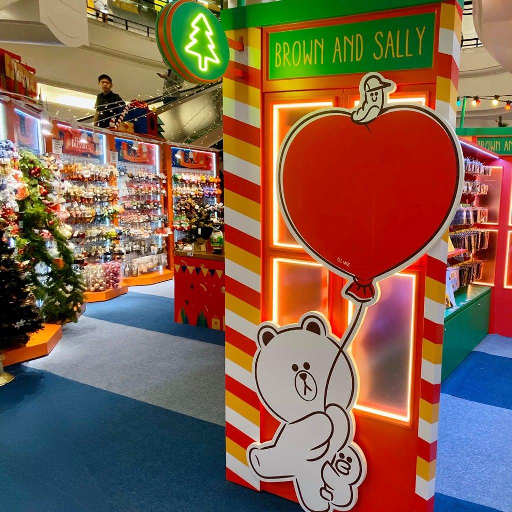 時代廣場:LOG-ON「SALLY的幻想世界」 場中有多個SALLY與BROWN的互動場景裝飾