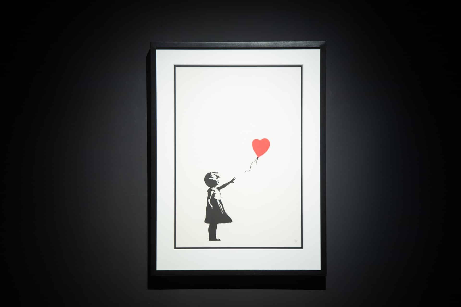 「Banksy: Genius or Vandal」世界巡迴展覽香港站 「女孩與氣球」(Girl with Balloon)