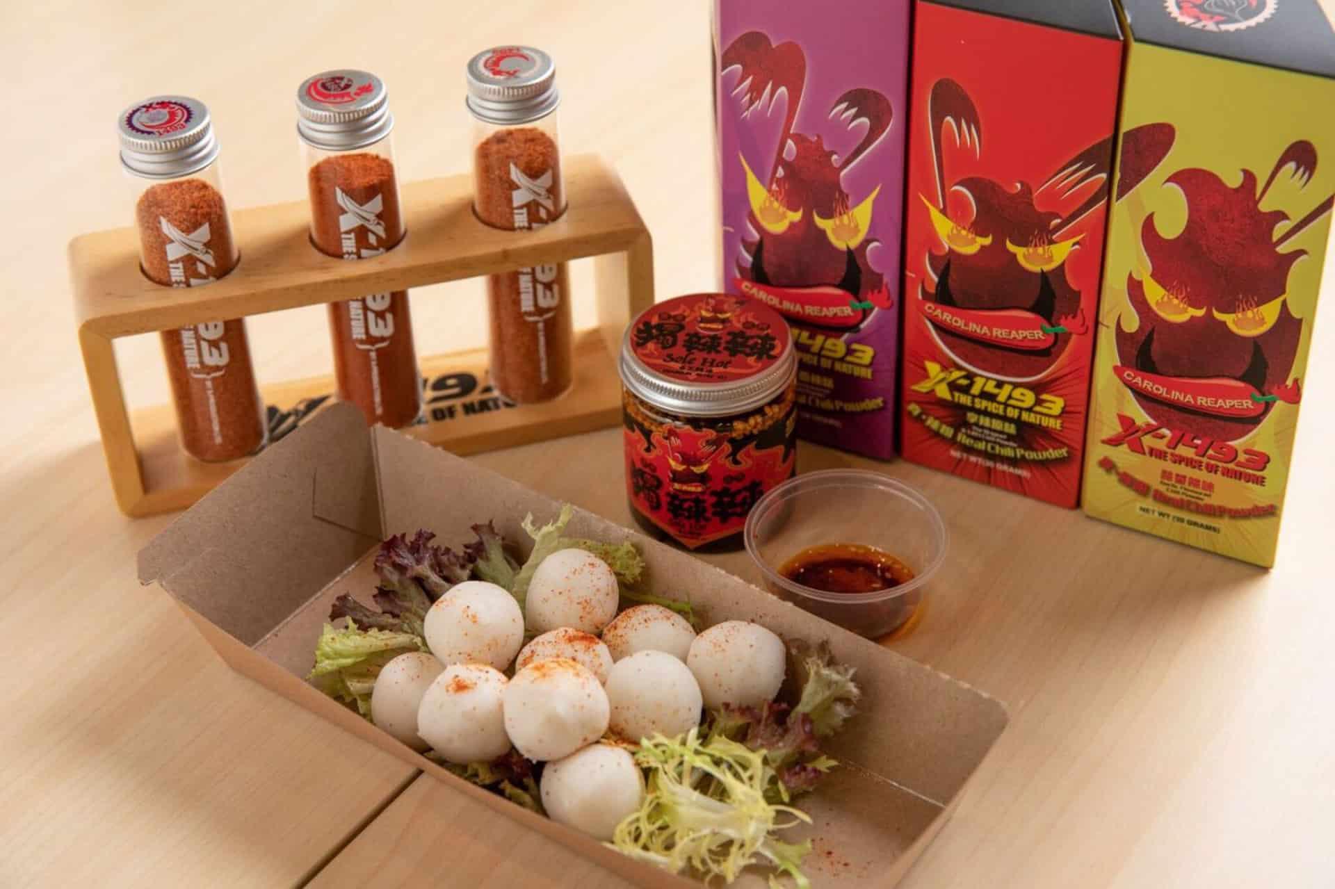 D.PARK愉景新城:冬日美食嘉年華 馬來西亞魚蛋配自家製X-1493萬度辣油(港幣$48)